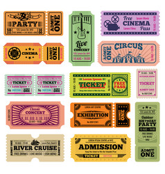 retro party cinema movie and music event vector image