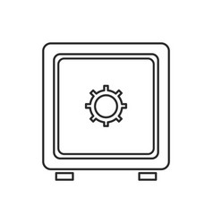 safe box money bank security code image vector image