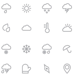 Set outline weather icons for web and mobile vector image vector image