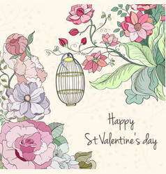 st valentine day card vector image vector image