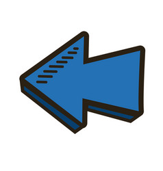 Blue direction arrow up abstract icon isolated vector
