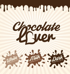 Chocolate Design Elements Labels and Badges vector image