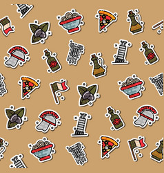 colored italy pattern vector image vector image