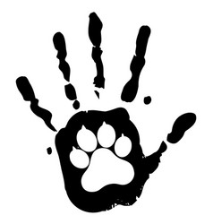 Dog pet animal paw care logo template vector