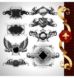 medieval heraldry shields vector image vector image