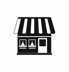 Shop building icon simple style vector image