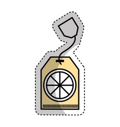 tea bag product isolated icon vector image