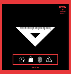 the ruler triangle icon vector image