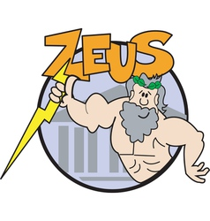 Zeus Cartoon logo vector image vector image