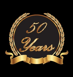 50 years commemoration vector image vector image