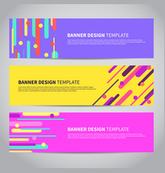 banner covers with bright flat geometric pattern vector image