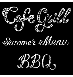 grill cafe vector image vector image
