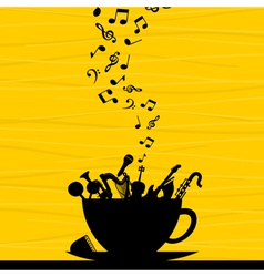musical instrument in a cup vector image vector image
