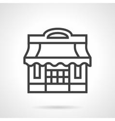 Pizzeria black line design icon vector image vector image