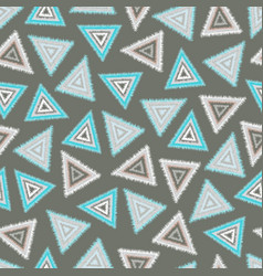 seamless pattern tribal triangles vector image