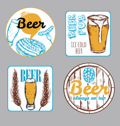 beer label set vector image vector image