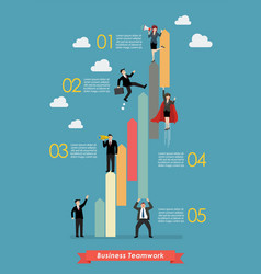 business teamwork concept infographic vector image vector image