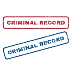 Criminal Record Rubber Stamps vector image