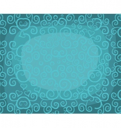 curly background vector image vector image