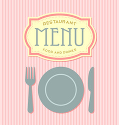 Restaurant menu cover template vector image