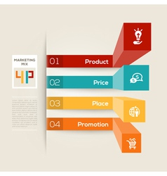 4P Business Marketing Concept vector image