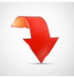 Abstract Red 3d Arrow Icon vector image