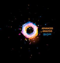 advanced analysis big data logo light bulb vector image