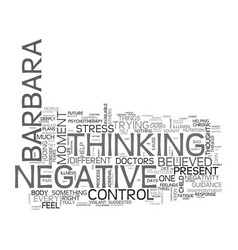 Are you a negative thinker text word cloud concept vector