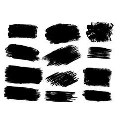 black paint ink brush stroke brush line or vector image