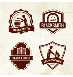 Blacksmith Emblems Set vector image