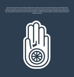 Blue line symbol jainism or jain dharma icon vector