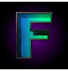 Blue plastic figure f vector