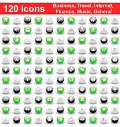 business travel general icon set vector image