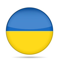 button with flag of Ukraine vector image