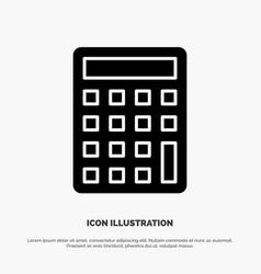 Calculator calculate education solid glyph icon vector