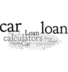 Car loan calculators vector
