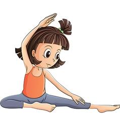 Cartoon yoga girl vector