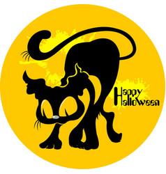 Cat halloween vector