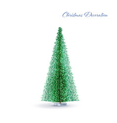 christmas and new year 3d geometric decoration vector image