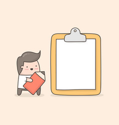 clipboard banner vector image