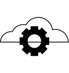 cloud computing gear setting vector image
