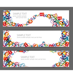 Colorful letters banners vector