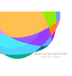 colorful shapes scene on a white vector image