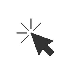 computer mouse cursor icon in flat style arrow vector image