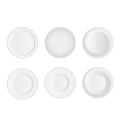 creative set of 3d white round vector image