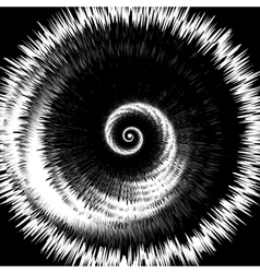 Design monochrome twirl rotation background vector image