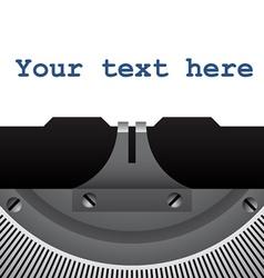 Detail of vintage typewriter vector