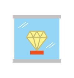 diamond in museum icon vector image