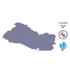 Dot el salvador map vector