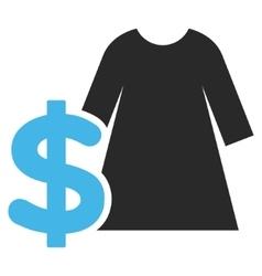 Dress Price Flat Pictogram vector